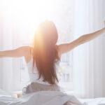 Kvinna vaknar